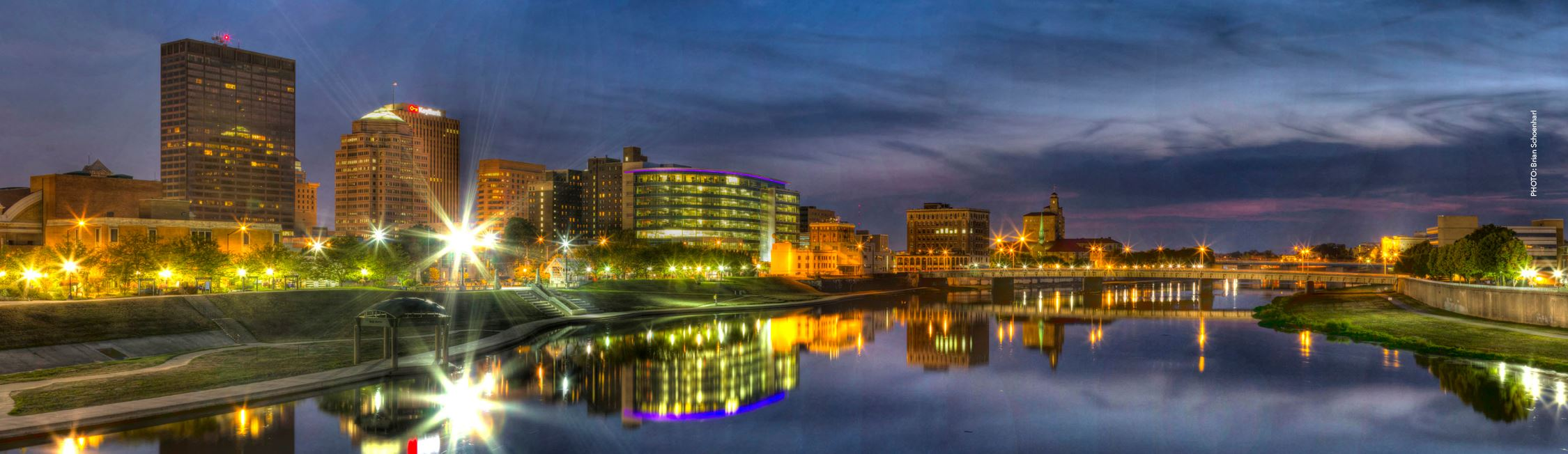 City of Dayton, Ohio Skyline